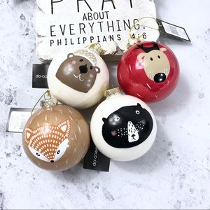 Ball ornament animal faces Christmas decoration